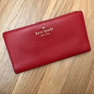 Kate Spade Cobble Hill Wallet, Deep Blaze (Red)
